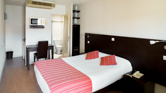 Groupe Ariane Top Motel Istres Appart Hotel Studio Chambre standard double